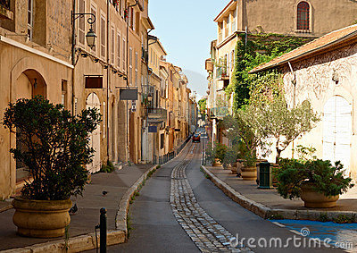 Street in old Aix en Provence