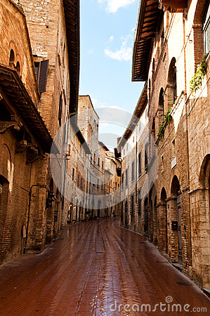 Street in an old city in Ttuscany