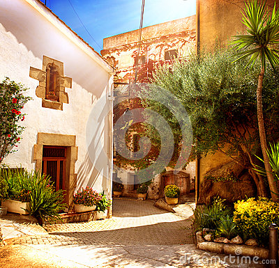 Street of Old Mediterranean Town
