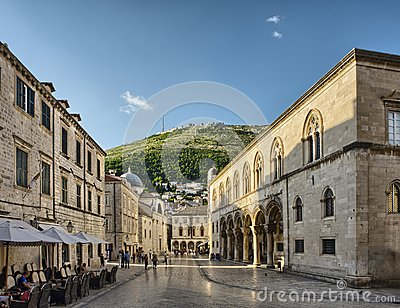 Street in the old town Dubrovnik, Croatia Editorial Image