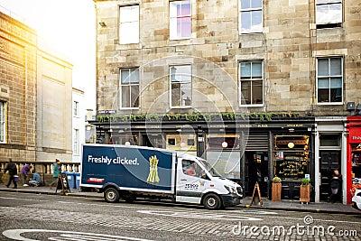 A street in Old Town Edinburgh Editorial Stock Photo
