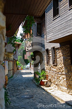 Street of the old town. Nessebar.Bulgaria.