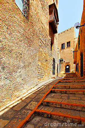 Street In Old Yafo Stock Photos - Image: 9937043
