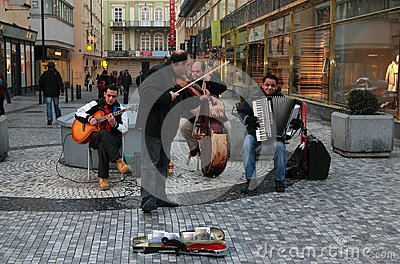 Street orchestra playing music Editorial Photo