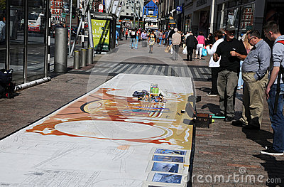 Street painter Editorial Photography