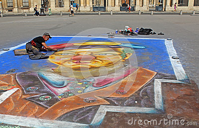 Street painter in Paris