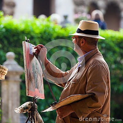 Street painter Editorial Stock Image