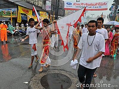 Street Parade of the Phuket Vegetarian Festival Editorial Image