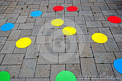 Street paving cheerful and colored