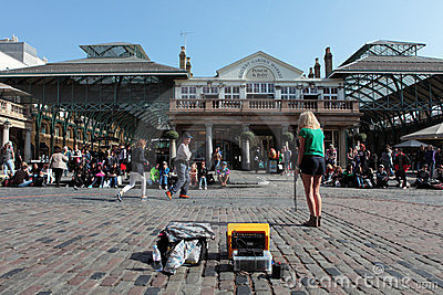 Street Performer in Covent Garden in London Editorial Image
