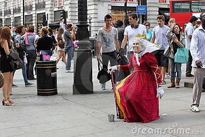 Street Performer London England Editorial Photography
