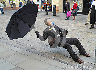 Balancing Street Performer