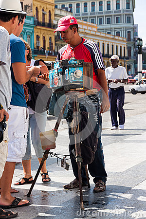 Street photographer in Old Havana Editorial Photography