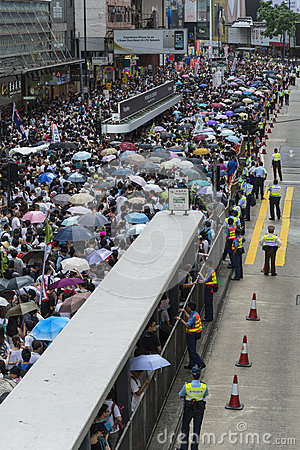 Street Protests in Hong Kong Editorial Photography