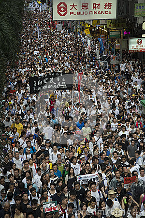 Street Protests in Hong Kong Editorial Stock Image