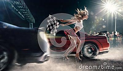 Off Road Design >> Street Racing Start Stock Photo - Image: 44670850