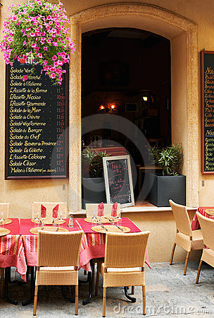 Street restaurant in French Provence