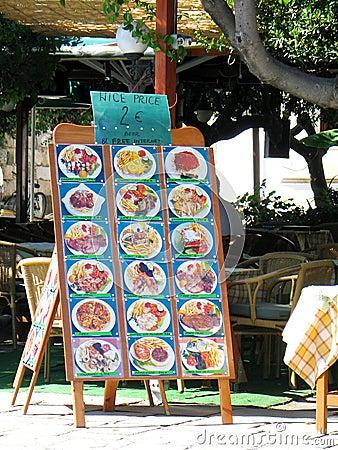 Street Restaurant Menu