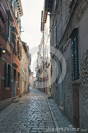 Street in Rovinj Stock Photo