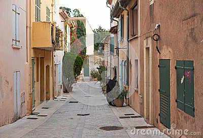 Street in Saint Tropez, Provence, France