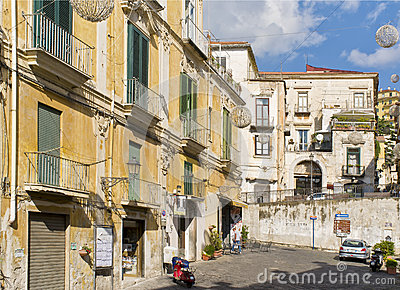 A Street in Salerno Italy Editorial Photography
