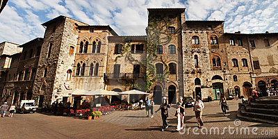 Street in San Gimignano Editorial Photography