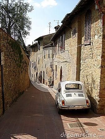 Street in san gimignano italy.