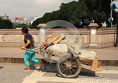 Street scene in China Editorial Stock Image