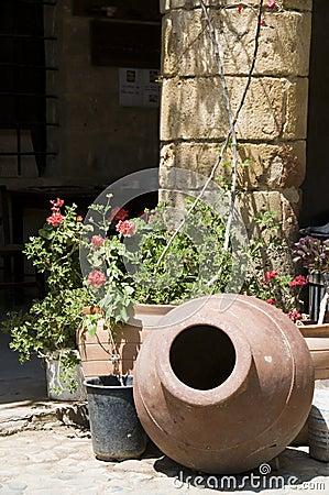 Street scene historic architecture lefkosia cyprus