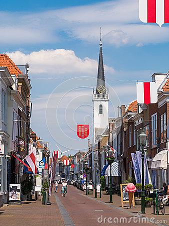 Free Street Scene In Old Town Of Brielle, Netherlands Royalty Free Stock Image - 93587276
