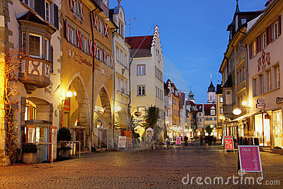 Street scene in Lindau, Germany Editorial Image