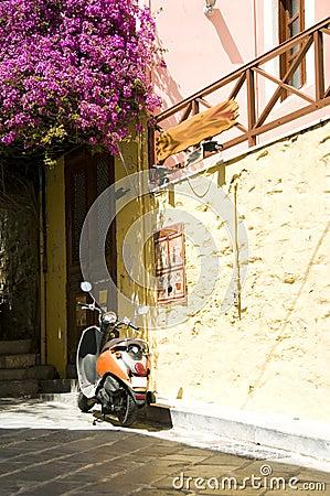 street scene motorbike Syros