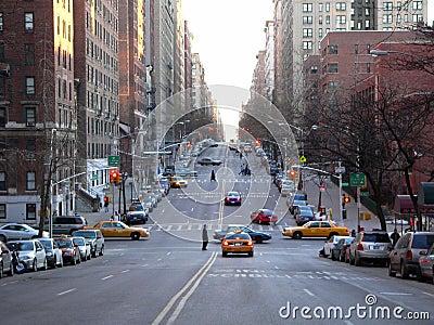 A street scene in NYC