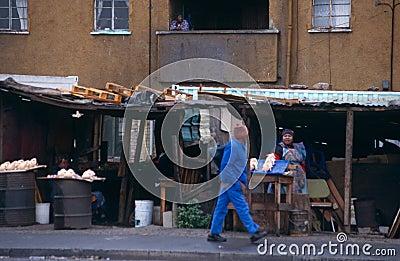 A street scene in South Africa