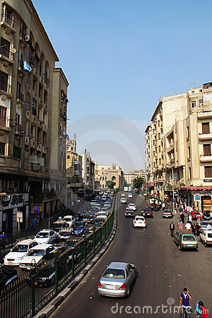 Street scenery in Cairo, Egypt Editorial Photo