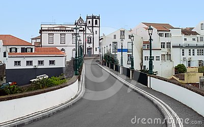 Street scenery at Ponta Delgada