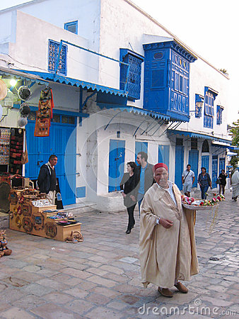 Street seller. Sidi Bou Said. Tunisia Editorial Image