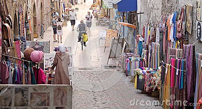 Street shops at the Essaouira Editorial Photo