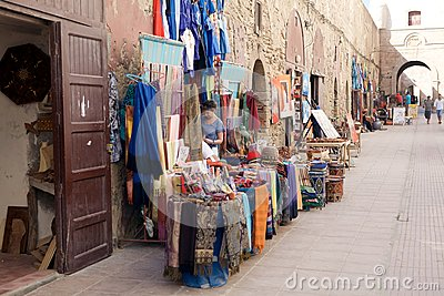 Street shops at the Essaouira fo Editorial Photography