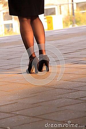 Street shot female legs
