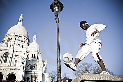 Street Show. Montmartre District. Paris Editorial Stock Image