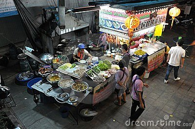 Street Side Restaurant Kitchen in Bangkok Editorial Photo