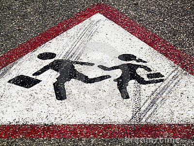 Street sign - Children crossing