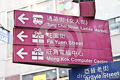 Street Sign closeup