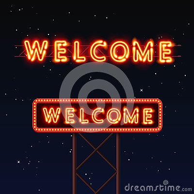 Free Street Sign That Says Welcome. Stock Images - 100413194