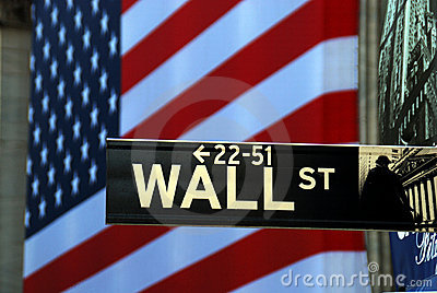 Street sign for Wall Street Editorial Stock Photo