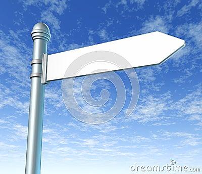 Street signpost blank