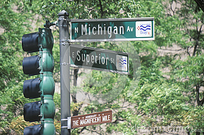 Street signs in Chicago