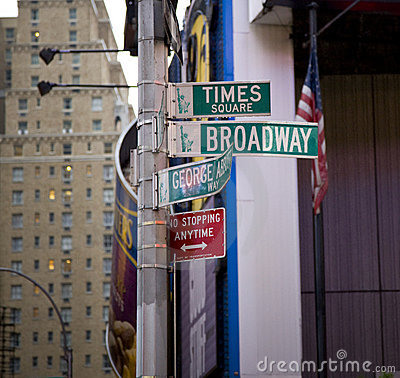 Free Street Signs In New York Royalty Free Stock Images - 5193119