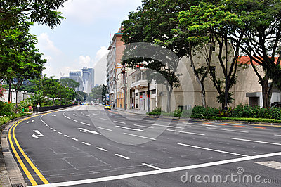 Street in Singapore Editorial Photography